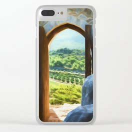 door with views Clear iPhone Case