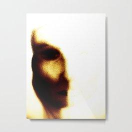 Half Face Mask Metal Print