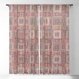Azeri Zili Karabagh Azerbaijan South Caucasus Flatweave Print Sheer Curtain