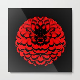 Bold Red Flower 2: I'm Here!  Metal Print