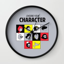 Choose your character Wall Clock