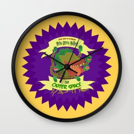 Little Shop Of Horrors - Mean Green Mother from Outer Space Wall Clock