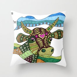 Cows Are People Too Throw Pillow