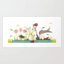 Allotment Art Print