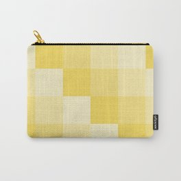 Four Shades of Yellow Square Carry-All Pouch