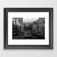 Black and White San Francisco Street Photography Framed Art Print