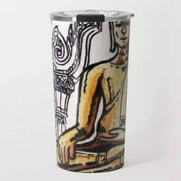 Bangkok : Golden Buddha in Wat Traimit Travel Mug