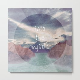 Into the Mystic (ANALOG zine) Metal Print