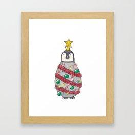 Christmas Penguin Framed Art Print