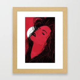 Feel the moon Framed Art Print