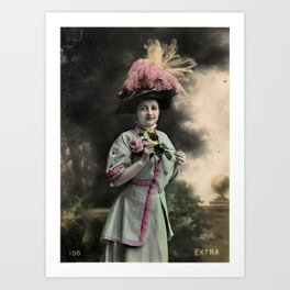 The Feathered Hat Art Print