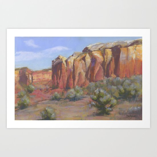 Ghost Cliff II Art Print