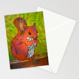 Squirrel Print Stationery Cards