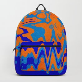 Blue Orange Abstract Backpack