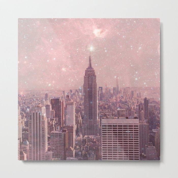 Stardust Covering New York Metal Print