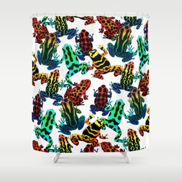 TOXIC FROGS PATTERN Shower Curtain