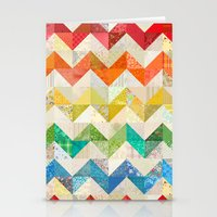 quilt Stationery Cards featuring Chevron Rainbow Quilt by Rachel Caldwell