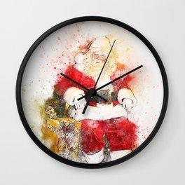 Merry Christmas from Classic Santa Wall Clock