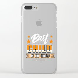 Family Love Bloodline Household Clan Relationship Birth Best Child In The World Gift Clear iPhone Case