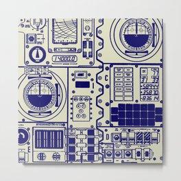 NASA Apollo Spacecraft Control Panel Metal Print