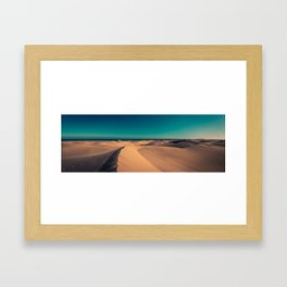 Sunset over the sand dunes Framed Art Print