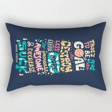 Increase Awesome, Decrease Suck Rectangular Pillow