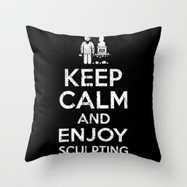 Sculptor Throw Pillow
