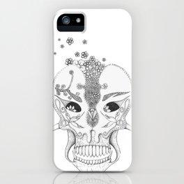 Sugar & Flower Skull iPhone Case