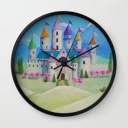 Colorful Princess Castle Wall Clock
