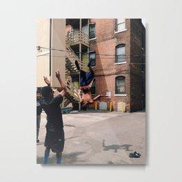 Street Kid Flips Metal Print