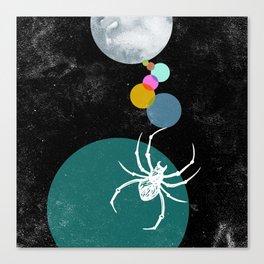Spider Webbing Canvas Print