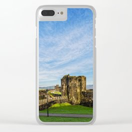 Caerphill Castle Panorama Clear iPhone Case