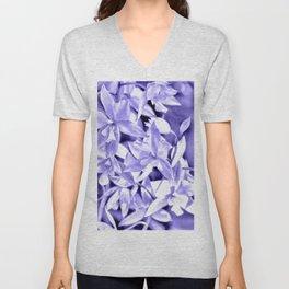 Cascading orchids - Violet Unisex V-Neck