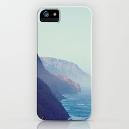Hawaii Mountains Along the Ocean iPhone Case