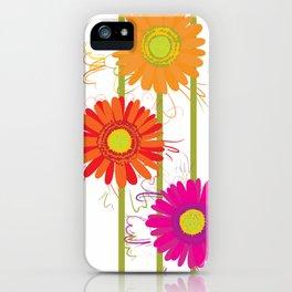 Multicolored gerberas iPhone Case