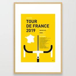 MY TOUR DE FRANCE MINIMAL POSTER 2019 Framed Art Print