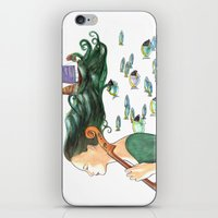 cello iPhone & iPod Skins featuring Sofia (Cello) by Vivian Cheung