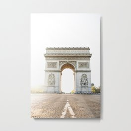 arch the triomphe in paris Metal Print