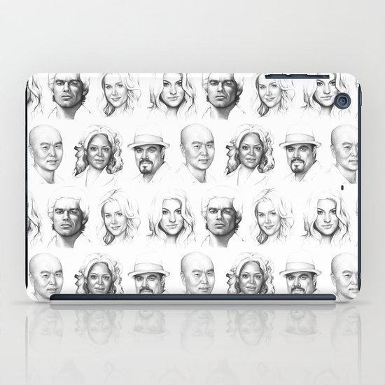 Dexter Portrait Pattern iPad Case