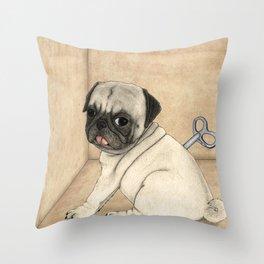 Toy dog; Pug Throw Pillow