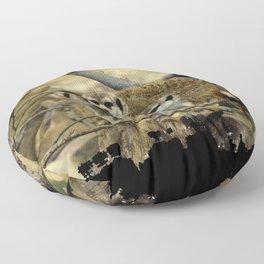 African Meerkat Trio Floor Pillow