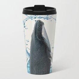 Dancing Whale Metal Travel Mug