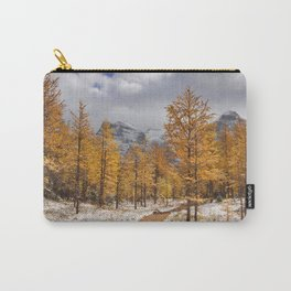 II - Larch trees in fall after first snow, Banff NP, Canada Carry-All Pouch