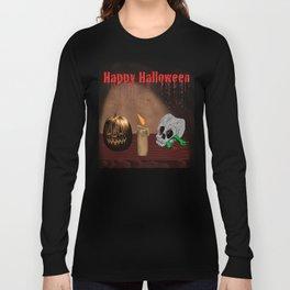 Happy Halloween Skull And Jack O'Lantern Long Sleeve T-shirt