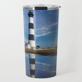 Carolina Blue Skies and Bodie Island Lighthouse Travel Mug