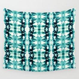 Tie-Dye Teals Wall Tapestry