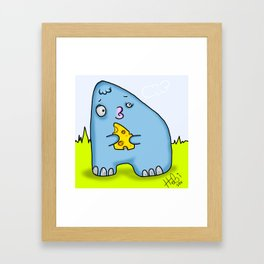 A cheese Monster Framed Art Print