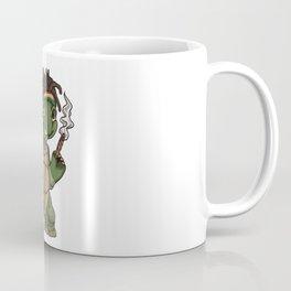 Weed Smoking Turtle   Cannabis THC CBD Rasta Coffee Mug