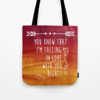 fangirl Tote Bags featuring Fangirl by solMKC