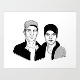 capped Art Print